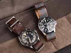 Omega Seamaster 300 & Rolex Submariner / leather nato strap