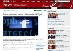 BBC News - Facebook rant lands US man in UAE jail.