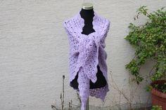 Weiteres - Mode Tuch Schal vintage lila flieder gehäkelt - ein Designerstück von trixies-zauberhafte-Welten bei DaWanda