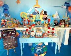 #mulpix Nossa segunda festa do dia!! Para quem ama o Mundo Bita, essa foi a festinha do Carlos Eduardo!! Na festa dele a turma do Bita estava no fundo do mar!!! #bita #mundobita #festamundobita #mundobitanofundodomar #fundodomar #underthesea #perbambinifestas #partyideas #partydesign