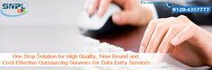 One Stop solution for High Quality Time Bound and Cost Effective outsourcing for data entry...