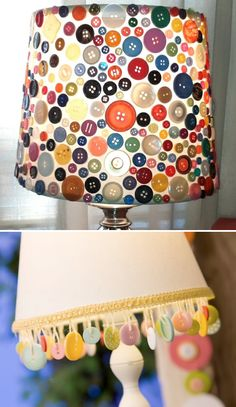 Lamp Shade Ideas --hit or miss? not sure how i feel, could be cute in all white and creams OR a gradant of blue into teal into white