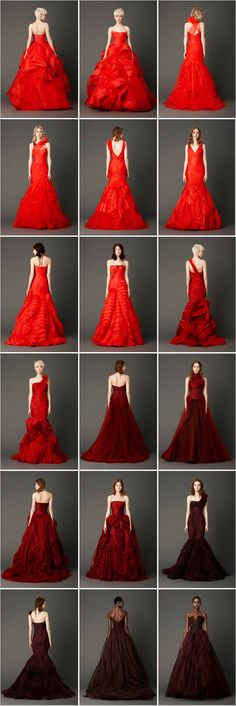 Man, I wish I had the balls (and budget) for one of these Vera Wang red wedding dresses!