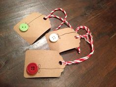 Button gift tags