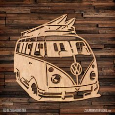 Select between unfinished wood or one of FREE stain color options available. thick unfinished wood ready to paint or stain. We offer 4 different types of stains for an additional fee Volkswagen Bus, Metal Art, Wood Art, Deco Surf, Laser Cutter Ideas, Wood Burning Art, Scroll Saw Patterns, Cross Patterns, Laser Cut Wood