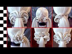 9 elegantes y rápidos peinados elásticos - peinados de REM - YouTube