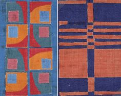 Hans Krondahl (born in 1929) is a Swedish painter, tapestry weaver and textile designer. He studied at Konstfack (College of Art, Crafts and Design) in Stockholm and taught at various design schools in  Sweden and abroad.  left: designed in 1966, right: 1977