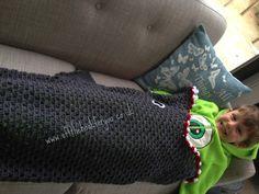 offthehookforyou: Eaten by a Shark - free crochet shark blanket pattern (boys version of mermaids tail).
