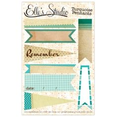elle's studio pennants for project life
