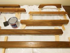 After two coats of teak oil, ready for varnish