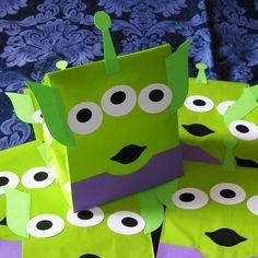 Space Alien Toy Story Buzz Lightyear Woody Theme Birthday Party Treat Sacks Bags. $12.50, via Etsy.