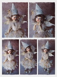 OOAK Handmade MSD BJD Fairy Outfit modeled on Talyssa Elf by Kaye Wiggs...by Kim Arnold for The Trinket Box