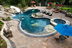 Amazing Free Form Pool design #freeform #swimmingpool #pools #BarringtonPools