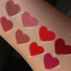 """Check out these supe - http://47beauty.com/cosmeticcompanies/check-out-these-supe/ https://www.avon.com/?repid=16581277 Shop Avon & Save  Check out these super cute swatches of our new Pickup Liners!  Which shade is your favorite? Photo cred @kimjluv theBalm Cosmetics TheBalm Cosmetics boasts a complete line of makeup, skin care, hair care and nail polish. With a """"beauty in five minutes"""" philosophy, theBalm's multi-use, mega fabulous products have becom"""