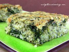 "Savory Quinoa-Spinach Breakfast ""Bars""   power hungry"