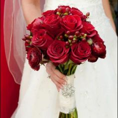 My beautiful bouquet on my wedding day. Perfect for fall.
