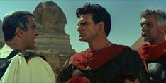"""Ivo Garrani, Steve Reeves e Renato Baldini nel film """"Il figlio di Spartacus"""" di Sergio Corbucci (1962)"""