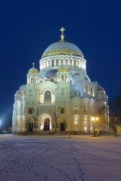 **The Naval Cathedral of Saint Nicholas in Kronstadt - Kronshtadt, Russia