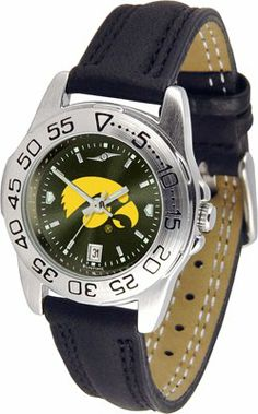 Iowa Hawkeyes- University Of Sport Leather Band Anochrome - Ladies - Women's College Watches by Sports Memorabilia. $50.76. Makes a Great Gift!. Iowa Hawkeyes- University Of Sport Leather Band Anochrome - Ladies