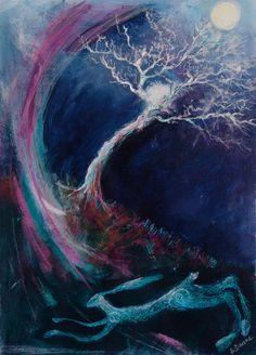 'Silver on the Tree'  Original Framed Artwork £180.00