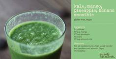 Kale Mango Pineapple Banana Smoothie - 4 recipes using kale