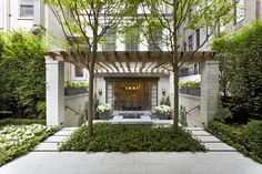 Upper East Side Townhouse Garden.  Designed by Hollander Design.  Installed and maintained by Town and Gardens.