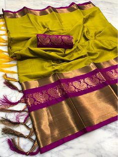 Discover thousands of images about Fabric : Pure Cotton silk Blouse : Cotton silk Kanjivaram Sarees Silk, Kota Silk Saree, Wedding Silk Saree, Indian Silk Sarees, Kanchipuram Saree, Cotton Silk Fabric, Silk Cotton Sarees, Cotton Saree Blouse, Blouse Neck
