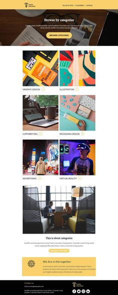 Customize this email design template with your content and push it to you favorite sending platform, such as Mailchimp, Sendinblue, Hubspot, Campaign Monitor etc. BEE is the easiest and quickest way to design elegant, mobile responsive emails, starting from scratch or from our 440+ ready-to-use templates.Visit the link above to have a look to our template! #emaildesign #emailtemplate #education #school  Designed by Regina Tagirova Professional Email Templates, Html Email Templates, Email Template Design, Email Design, Responsive Email, Mobile Responsive, Email Editor, Bee Free, Campaign Monitor