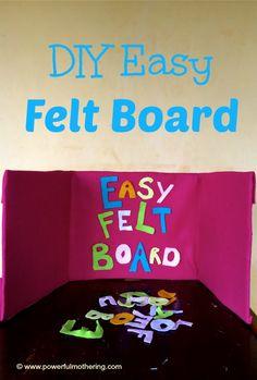 DIY easy felt board preschooler :: felt board activities