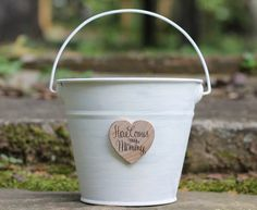 Here Comes My Mommy Flower Girl Basket Pail by MichelesCottage