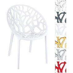 2er Set Gartenstuhl CRYSTAL, stapelbar, wasserabweisend, UV-beständig (aus bis zu 6 Farben wählen)