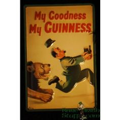 My Goodness My Guinness 1937 3-D Enamel Irish Pub Sign