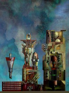 torres, collage de dibujos ADOLFO LUIS MOURE STRANGIS
