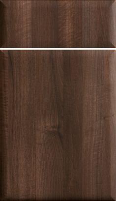 Palo Wood Grain Foil Door, Cabinetry, Cabinet Door, Shown In Mink Brown