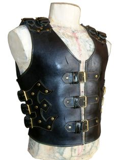 Vest protection for bikers leather cattle by Kozemyaka on Etsy