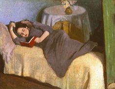 """"""" Róbert Berény (Hungarian, 1887-1953) Woman Reading """""""