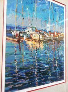 "Marco Sassone ""San Francisco Bay"" 1982 Limited Edition Print Serigraph"