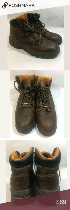 Timberland Pro Series Work Boots Men's 10.5 Leathe Timberland Pro Series Work Boots Men's 10.5 Leather Lace Up Brown  Excellent used condition.   SS Timberland Shoes Rain & Snow Boots