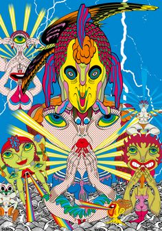 Keiichi Tanaami Pop Art: A Psychedelic Wonderland Aliens, Keiichi Tanaami, Modern Art Pictures, Collages, Singapore Art, Psychadelic Art, Alien Art, Arte Popular, Japan Art