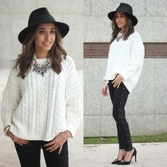 Get this look: http://lb.nu/look/5815297  More looks by Besugarandspice FV: http://lb.nu/besugarandspice  Items in this look:  Zara Sweater, Uterque Hat