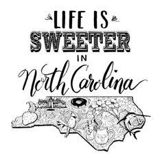 North Carolina State Print