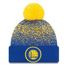 6e1655278af18c Golden State Warriors New Era On-Court Pom Knit Beanie Hat / Cap Nba Golden
