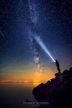 Watching the Perseid meteor shower   by framedbythomas