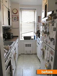 I love everything about this kitchen, even the ripped up floor.