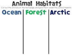 Fun in First Grade: Habitat animal sort