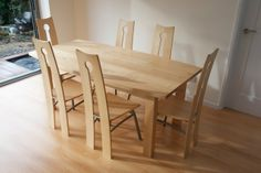 Charmant Maple Dining Table And Chairs   Www.tree Fish.net   Daniel Burrough