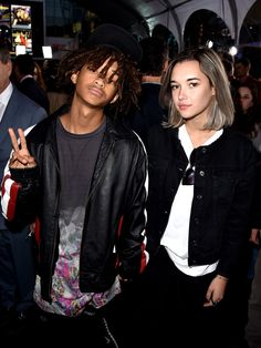 """Jaden Smith and Sarah Snyder arrive at the premiere of """"Pitch Perfect 2"""" at Nokia Theatre in Los Angeles.  Kevin Winter, Getty Images"""
