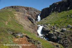 The uppermost tiers of the Fardagafoss waterfalls Egilsstadir, East Iceland Iceland Waterfalls, Places To Go, Beautiful Places, World, Outdoor, Outdoors, Outdoor Games, The World, Earth
