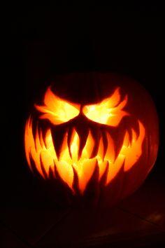 {Dad's scary pumpkin!}  #halloween #jackolantern