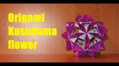 DIY: Origami flower Kusudama\Оригами кусудама цветок